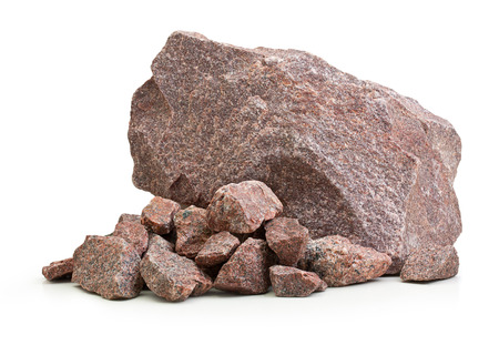 Granite stones,rocks isolated on white