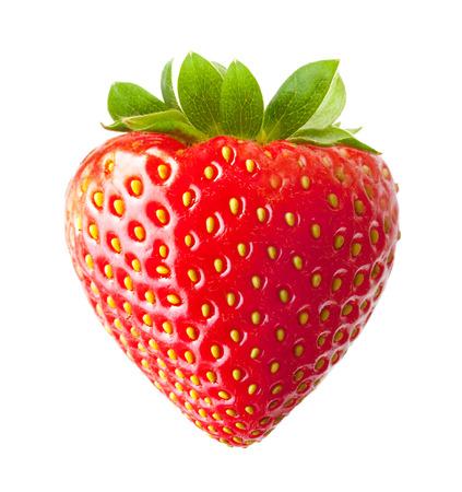Strawberry macro isolated on white Imagens - 32040330