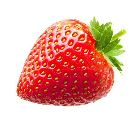 Strawberry macro isolated on white