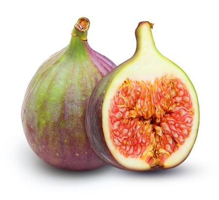 fruit background: Fresh fruit figs isolated on white background