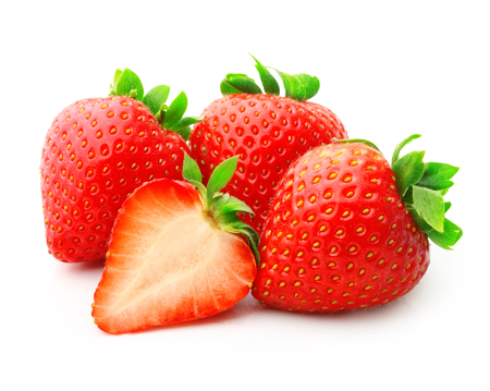 savory: Strawberry isolated on white background