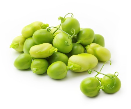 pea: Green peas and beans isolated on white background