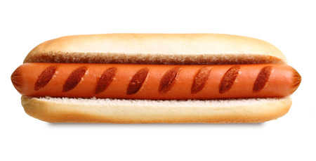 Hot dog grill isolated on white background.