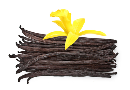 asian flavors: Vanilla pods isolated on white background