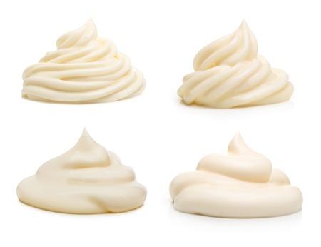 Cream isolated on white background.
