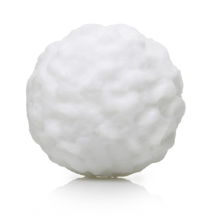 Snow ball isolated on white background. 免版税图像