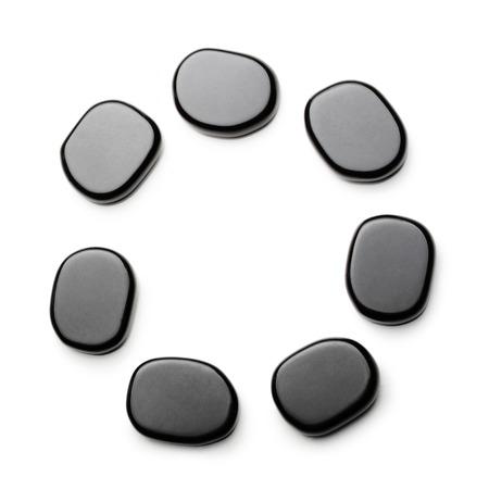 thalasso: pierres spa isolé sur fond blanc. Banque d'images