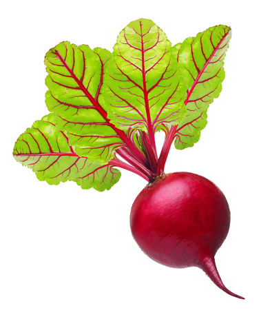 Beetroot with leaves isolated