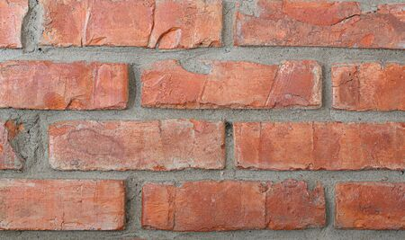 Old red brick wall Imagens