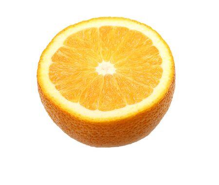 Orange fruit slice isolated Imagens