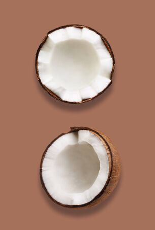 Tropical fruit coconut on brawn
