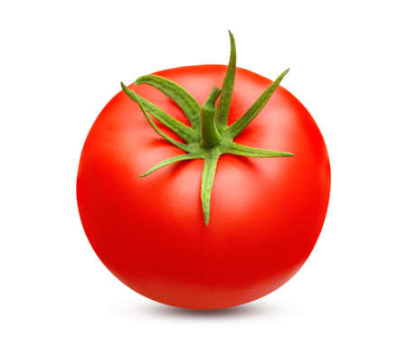 Red tomato isolated Imagens