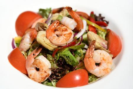 free dish: shrimp salad