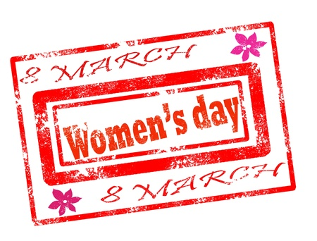 women day stamp on white background vector illustration Illustration
