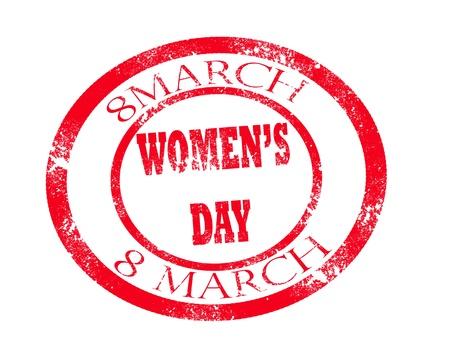 women day stamp on white background vector illustration Stock Vector - 17707996