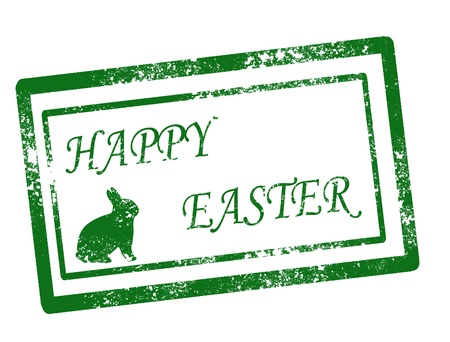 happy easter on white background vector illustration