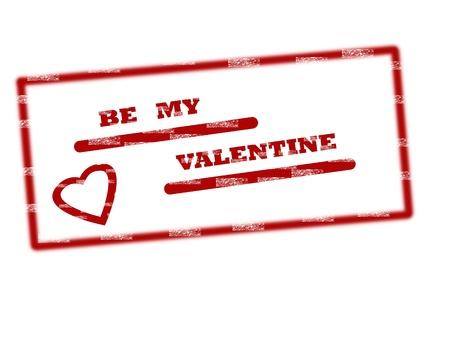 valentine day stamp on white background, vector illustration