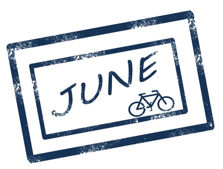 Calendar june stamp on white background vector illustration Illustration
