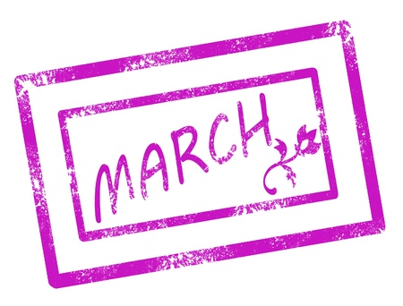 Calendar march stamp on white background vector illustration