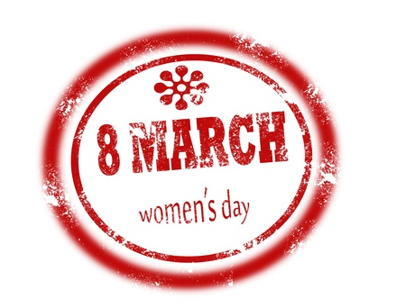 women day stamp on white background vector illustration Stock Vector - 17708081