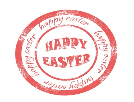 happy easter on white background vector illustration Stock Vector - 17708063