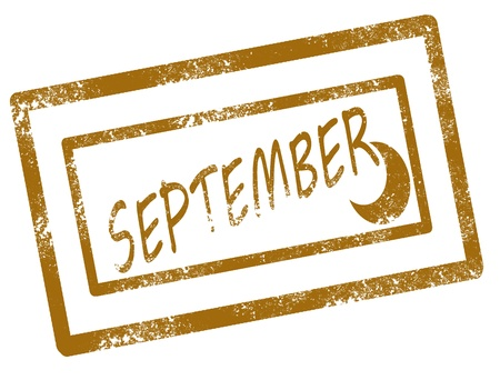 Calendar september stamp on white background vector illustration