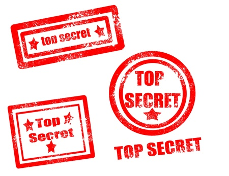 Top secret stamp on white background vector illustration Vector
