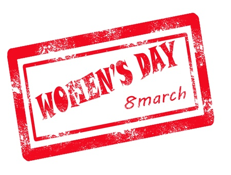 women day stamp on white background vector illustration Stock Vector - 17708082