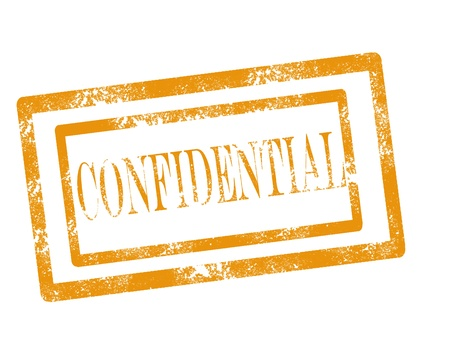 Confidential stamp on white background vector illustration Stock Vector - 17708075