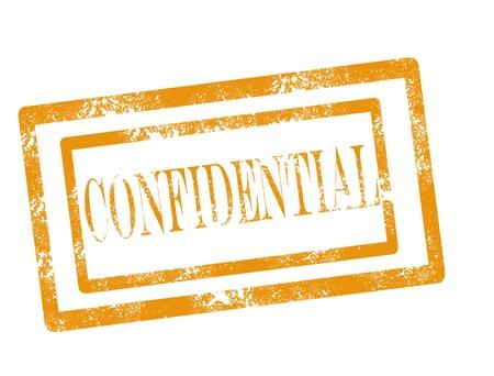 Confidential stamp on white background vector illustration Illustration