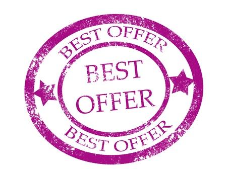 Best offer stamp on white background vector illustration