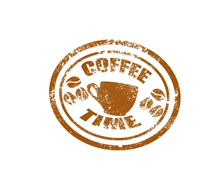 Coffee stamp on white background vector illustration Illustration