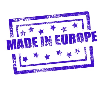 Made in Europe stamp on white background vector illustration