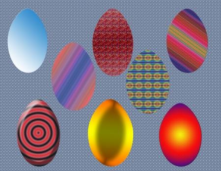 Easter eggs background vector illustration Illustration