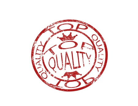 Top quality stamp on white background vector illustration
