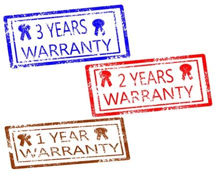 Warranty stamps set on white background vector illustration Illustration