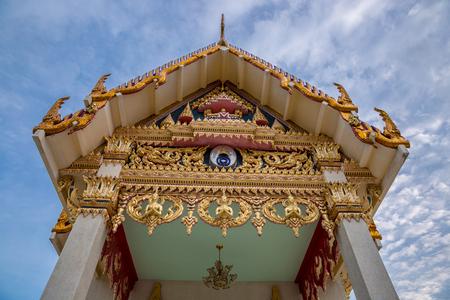 Small temple on Koh Samui island, Thailand 免版税图像