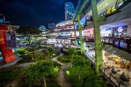 Ayala Mall Cebu Centre at night in Cebu City , Philippines. August 2018