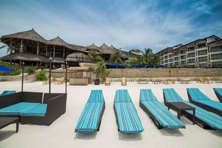 The Bellevue Resort hotel on a tropical beach on Panglao Island, Bohol, Philippines. August 2018 新聞圖片