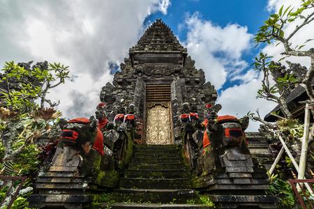 The Entrance Gate of Balinese Temple of Pura Ulun Danu Batur, Bali, Indonesia