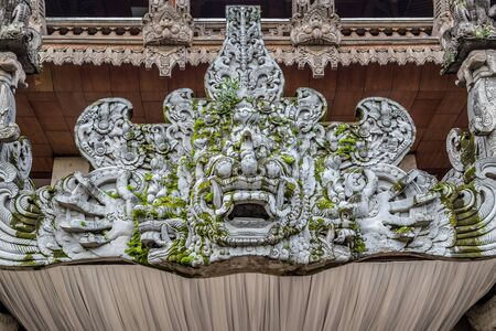 Traditional image of the demon in Balinese temple in Jakarta, Jawa, Indonesia. Juli 2018