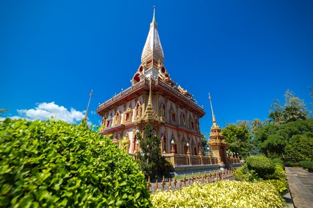 The Wat Chalong Buddhist temple in Chalong, Phuket, Thailand