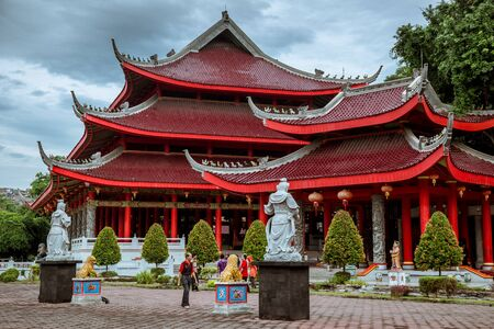 Sam Poo Kong Temple Gedung Batu Temple , the oldest Chinese temple in Central Java. Semarang, Indonesia. July 2018