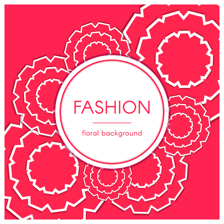 Paper Cut Floral Greeting Card. Fashion