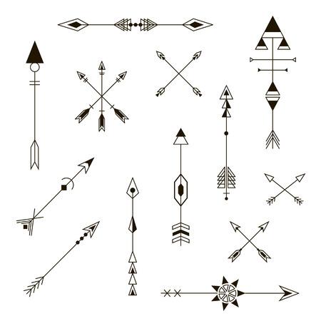 Decorative Arrows. Fashion Design Elements.