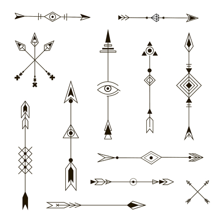Decorative Arrows. Fashion Design Elements.
