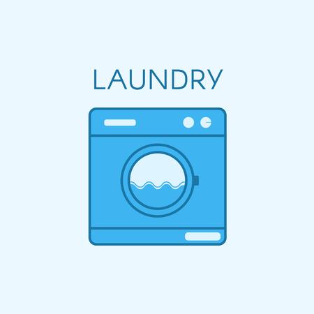 Laundry icon design. Stock Illustratie