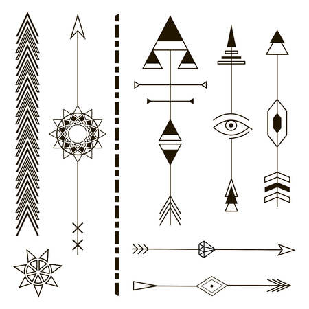 Decorative Arrows. Geometric Design Elements. Stock Illustratie