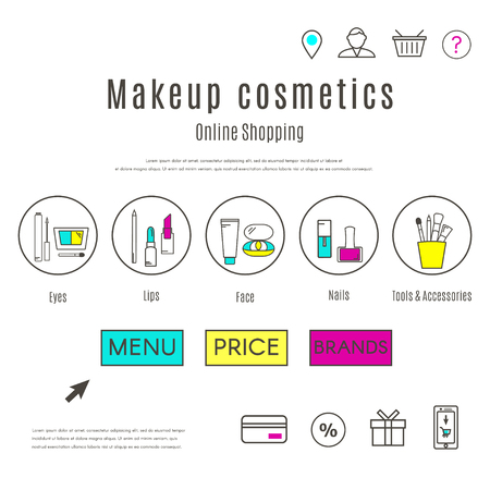 Web Design Template of Makeup and Cosmetics Online Shop