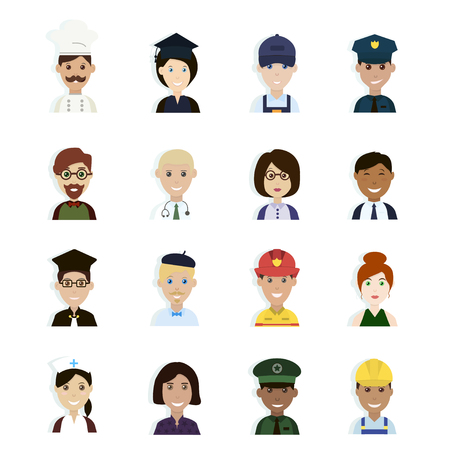 Professions and Occupations Avatar. Stock Illustratie